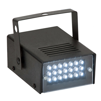 GM011 24 White LED Mini Strobe Light
